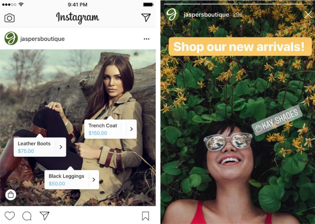 Hoe werkt Instagram shopping